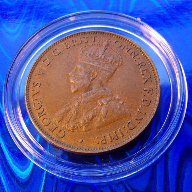 AU 1935 Australia 1/2  Penny, 8 PEARLS, High Grade FCD specimen w new Holder