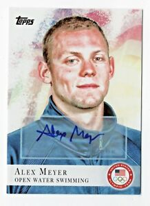 2012-Topps-USA-Olympic-Team-Autograph-99-Alex-Meyer-Open-Water-Swimming