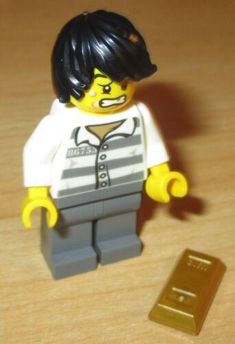 Verbrecher Dieb mit Goldbarren Lego City Figur
