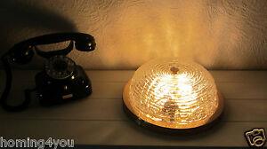 SiSche-Deckenlampe-Wandlampe-Lampe-Leuchte-039-60er-039-70er-J-Glas-Messing-Vintage