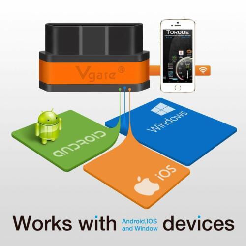 ELM327 WIFI OBD2 OBDII Car Diagnostic Code Reader Scanner Tool IOS Diagnostic
