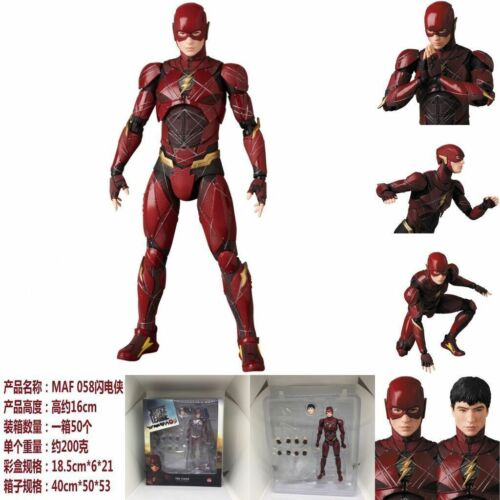 "6/"" Mafex 058 DC Comics Justice League The Flash PVC Action Figure New In Box"