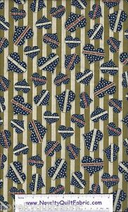 Be-Strong-Brave-Green-Stripe-Navy-Hearts-1649-24082-G-Novelty-Quilt-Fabric-BTY