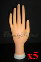 5pcs Practice Hand Mannequin Nail Art Designs Stand Flexiable Bendable Fingers