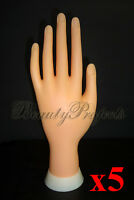 5pcs Practice Hand Mannequin Nail Art Designs Stand Flexiable Bendable Fingers