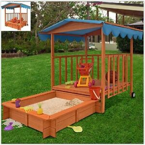 Image is loading Childrens-Outdoor-Playhouse-Kids-Sand-Pit-Box-Play- & Childrens Outdoor Playhouse Kids Sand Pit Box Play Tent Garden ...