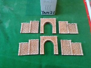 2 Single Track Tunnel & 4 Walls-n Scale Gauge Rough Stone Painted,stepped Wall Cadeau IdéAl Pour Toutes Les Occasions