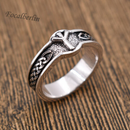 Wiking Dame Herrenschmuck Geschenk Fingerring Viking Schmuck Runen Ring Vintage
