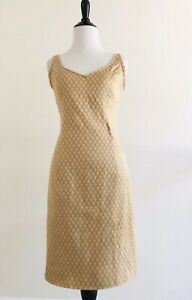 Piazza-Sempione-Dress-Size-S-Brown-Sheath-Fitted-Stretch-Sleeveless