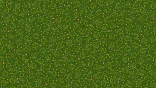 Makower Tissu Wildside Electric Eye vert kaki-Par 1//4 mètre