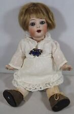 "ANTIQUE 8.5"" BISQUE-HEAD K*R SIMON & HALBIG 126 TODDLER DOLL WITH STARFISH HANDS"