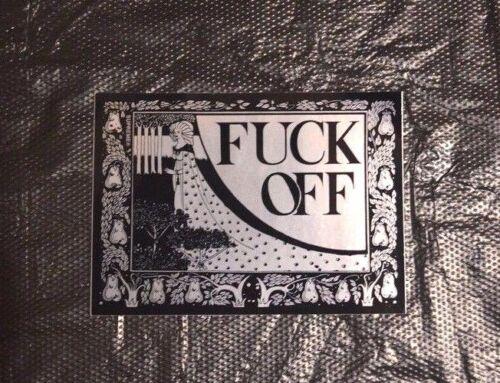 SUPREME F*ck Off Sticker Black box logo camp cap ali S//S16