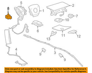 image is loading gm-oem-airbag-air-bag-srs-front-impact-