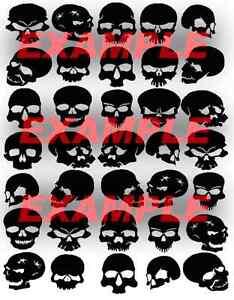 Cerakote-Duracoat-Skulls-Type-B-Stencil-Vinyl-Paint-Camouflage-Camo-Home-DIY
