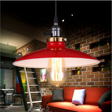 Pendant Bar Lamp Retro Red Iron Metal Shade Ceiling Vintage DIY Chandelier Light