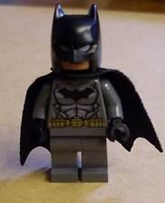 Lego Superhelden - Batman Figur schwarz grau mit Umhang ( Spongy Cape ) Neu