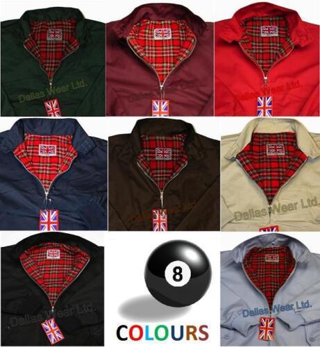 Original genuine Harrington Ltd navy tartan womens ladies jacket size XS-XL