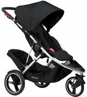 Phil & Teds 2016 Dash V5 Stroller & Double Kit - Black - Brand Model