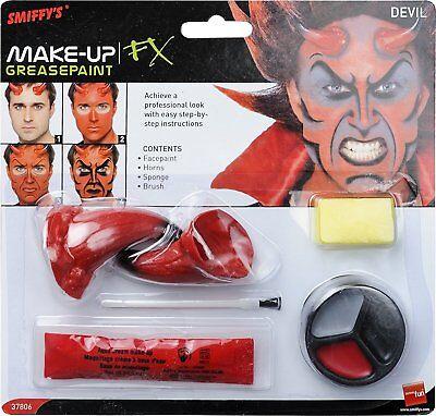 100% Vero Devil Make-up Set Con Le Corna-mostra Il Titolo Originale Garanzia Al 100%