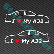 "I Heart My A32 Decals 7""x2"" Vinyl Stickers"