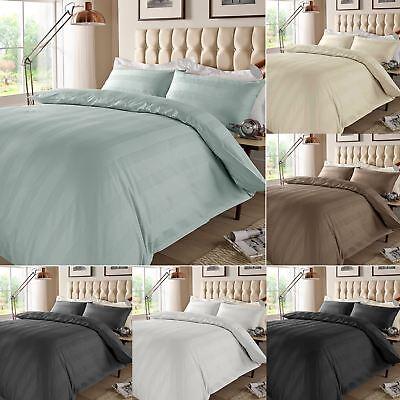 Luxury 400TC Duvet Cover Set 100/% Egyptian Cotton Satin Multi Stripe Bedding