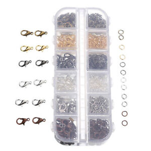 840Pcs-6-Colors-Mixed-Lobster-Clasp-Hooks-Open-Jump-Ring-DIY-Jewelry-Findings