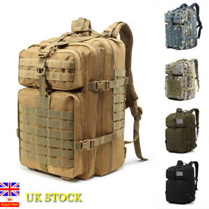 5359cdb316ad Image is loading 45L-Tactical-Military-Backpack-Rucksack-Camping-Hiking -Trekking-