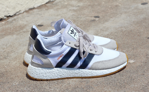 the best attitude e379a e33c6 Image is loading ADIDAS-INIKI-RUNNER-SHOES-WHITE-NAVY-BY9722-US-