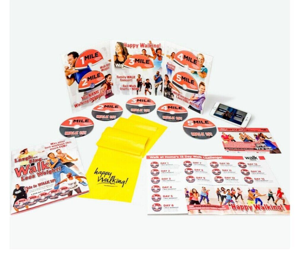 Social Distancing   Walking  Lose Weight   Leslie Sansone 5 DVD Home Workout Gym