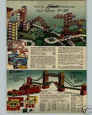 1963 PAPER AD Kenner Meccano Steel Building Construction Toy Sets Bridge