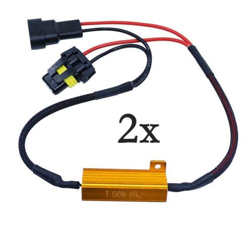 2 résistances anti-erreur ODB 50W pour ampoules à leds HB3 9005