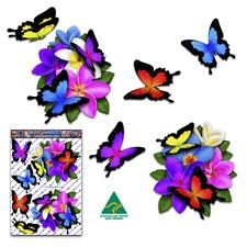 Frangipani Plumeria Flower Butterfly Car Stickers St047mc3 Australian Made