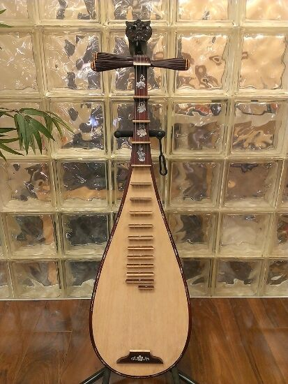 Professional Dan Ty Ba with Inlay Vietanmese Lute Musical Instrument