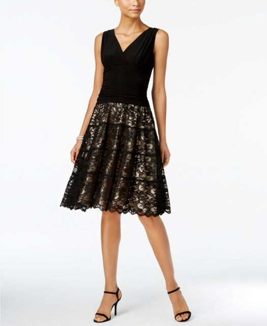 04683ad74270 SL Fashions Lace Ruched A-Line Dress MSRP $109 Size 12 1A 403 NEW ...