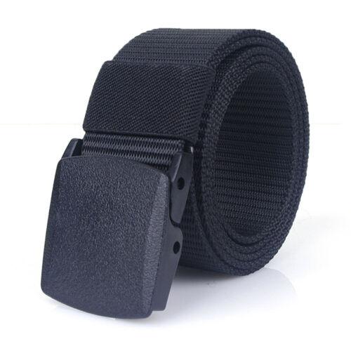 Men/'s Tactica l Belt Outdoor Sports Military Nylon Waistband Canvas Webbing Belt