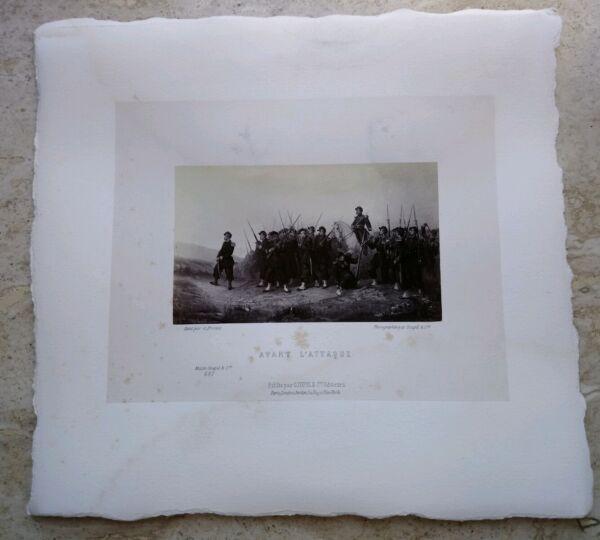 $ 800 Foto Litografia Stampa Musee Goupil & Cie Avant L'attaque ArmÉe Militaire Né Troppo Duro Né Troppo Morbido