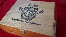 DON JUAN CIGAR BOX - NICARAGUA 25 ROBUSTOS - WOOD W/ CLASP