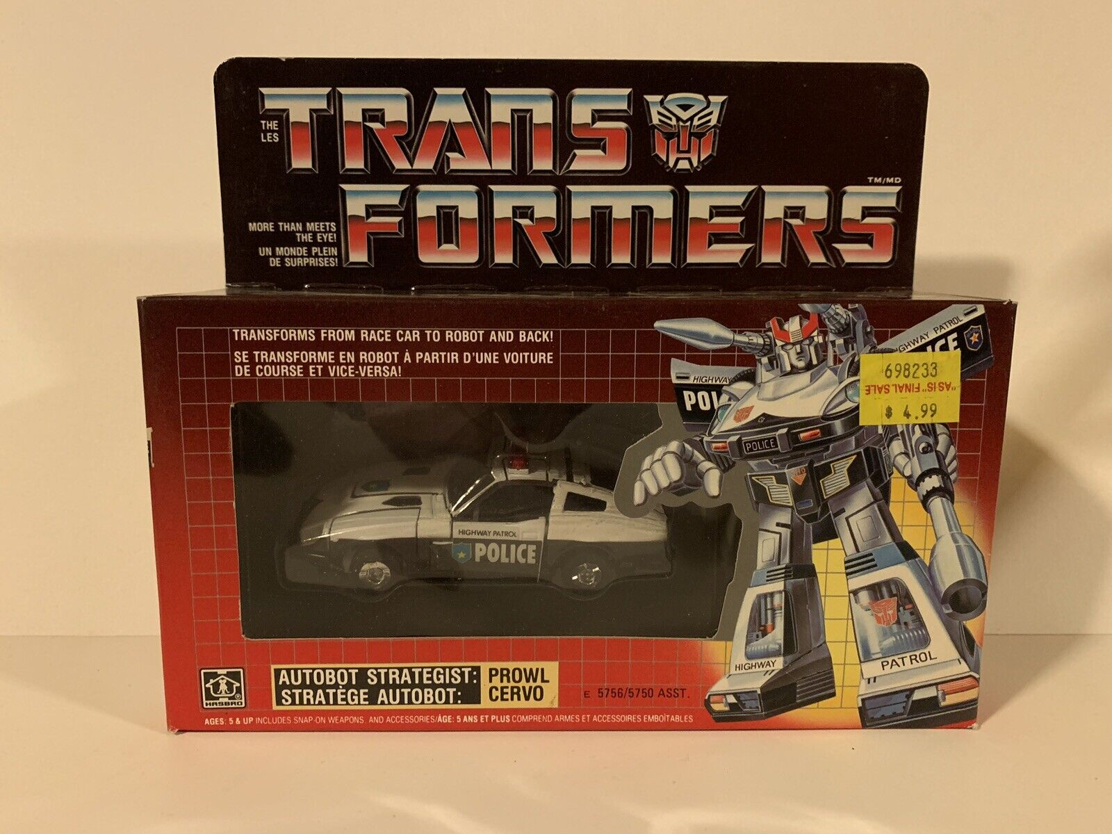 G1 Generation 1 Transformers Canadian Canadian Canadian Prowl Mib Sealed Contents Never Opened Afa fd9dd5