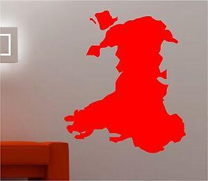 MAPPA Gallese Galles Wall Art Sticker Decal Cucina Camera da Letto Lounge  </span>