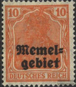 Memelgebiet-14-postfrisch-1920-Germania-Aufdruck