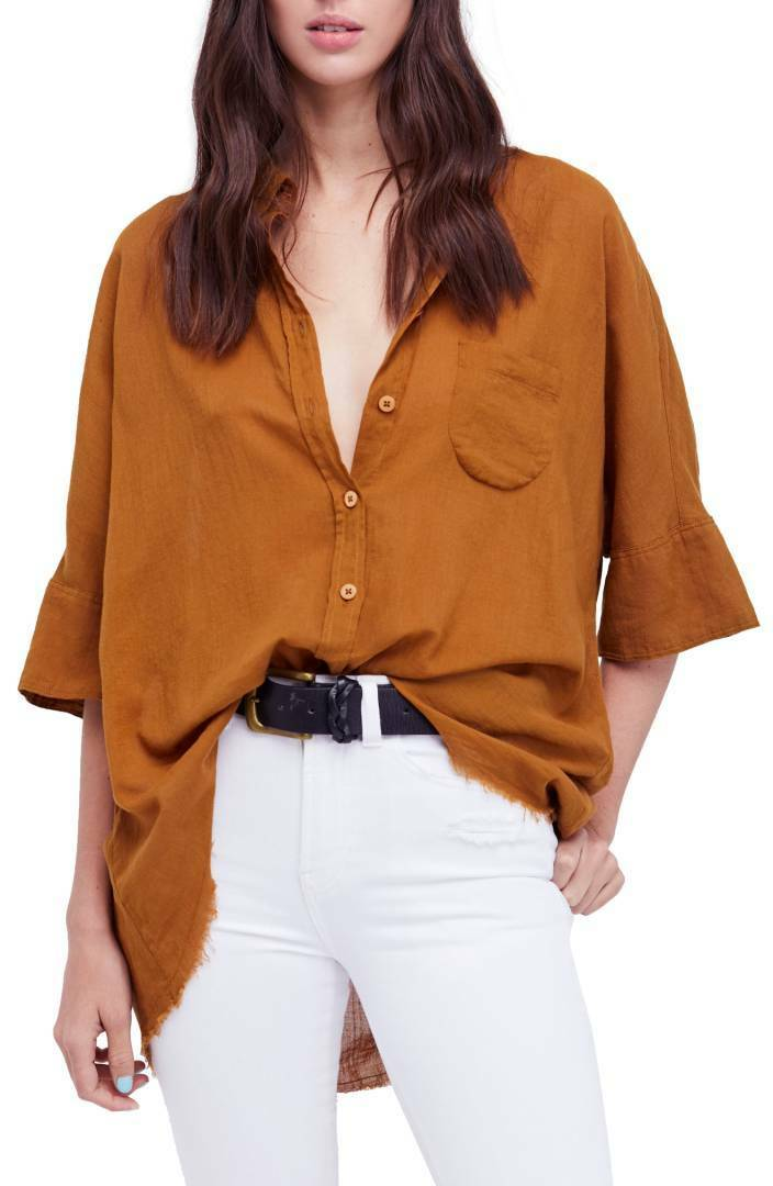 NWT Free People Best of Me Button Down Shirt Retail