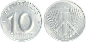 GDR 10 Pfennig 1953 A Almost Bu (2)