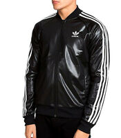 adidas wet look chile nylon glanz shiny vintage track top mens new