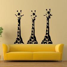Wall Vinyl Decals Giraffe Animals Jungle Safari Decal Sticker Art Mural Z668