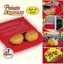 Potato Bag Microwave Potato Stove Oven Baked Potatoes 4 Minutes Cooking Tool New