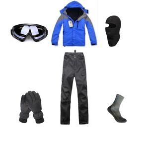 D89-Men-Ski-Snowboard-Jacket-Pants-Gloves-Goggles-Balaclava-Socks-S-M-L-XL-XXL