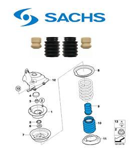 Sachs Stoßdämpfer Service Kit Vorderachse für BMW e39 e60 e61 mit Tieferlegung