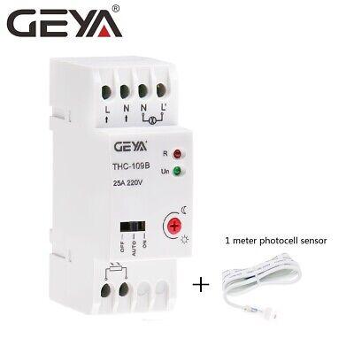 GEYA Photocell Light Control Switch 25A 20A 16A Twilight Switch with Sensor 220V