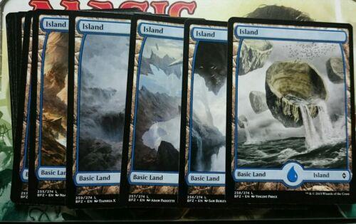 4 x Island Full Art NM MTG Magic The Gathering Land English Card