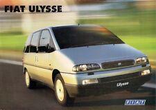 Fiat Ulysse 1999-2000 UK Market Leaflet Sales Brochure S EL 2.0 1.9TD